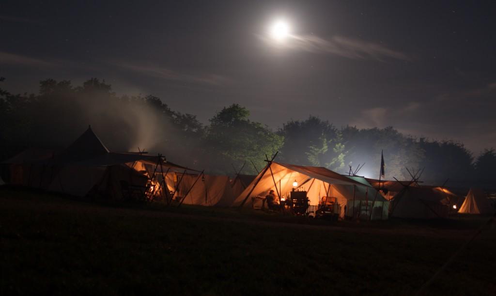 Lager auf dem Indian Council bei Nacht